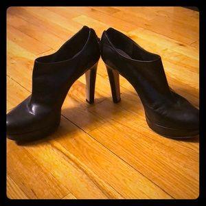 Miu miu (Prada) black leather heel booties size 10
